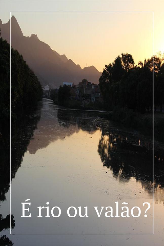 É rio ou valão?